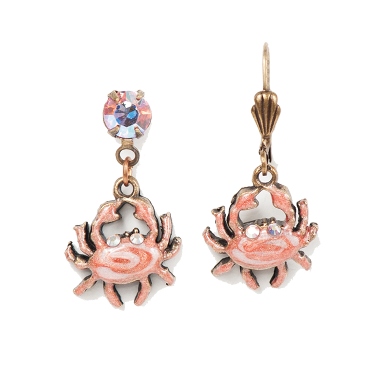 Coraline Crab Earrings | Anne Koplik Designs Jewelry | Handmade in America with Crystals from Swarovski®