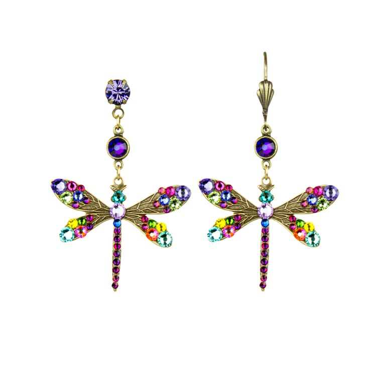 Elina Dragonfly Earrings | Anne Koplik Designs Jewelry | Handmade in America with Crystals from Swarovski®
