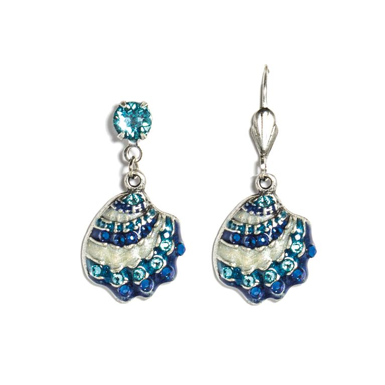 Lara Seashell Earrings | Anne Koplik Designs Jewelry | Handmade in America with Crystals from Swarovski®