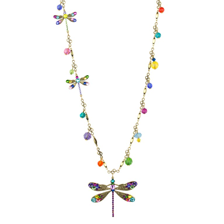 Elina Dragonfly Necklace | Anne Koplik Designs Jewelry | Handmade in America with Crystals from Swarovski®