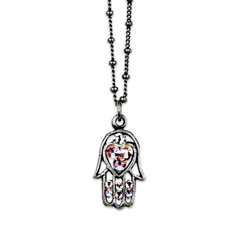 Aurora Hamsa Necklace | Anne Koplik Designs Jewelry | Handmade in America with Crystals from Swarovski®