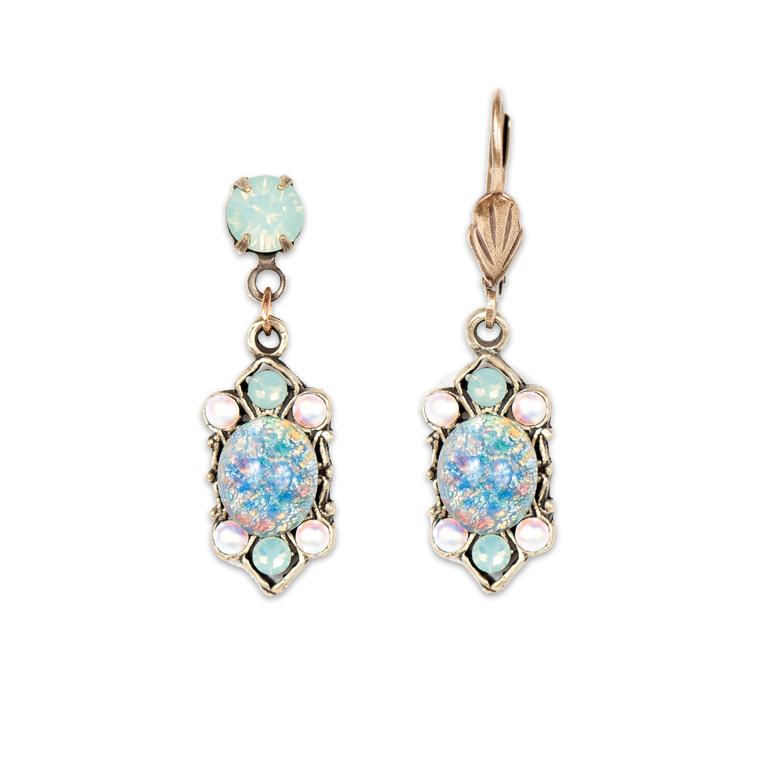 Gemma Opalescent Earrings | Anne Koplik Designs Jewelry | Handmade in America with Crystals from Swarovski®