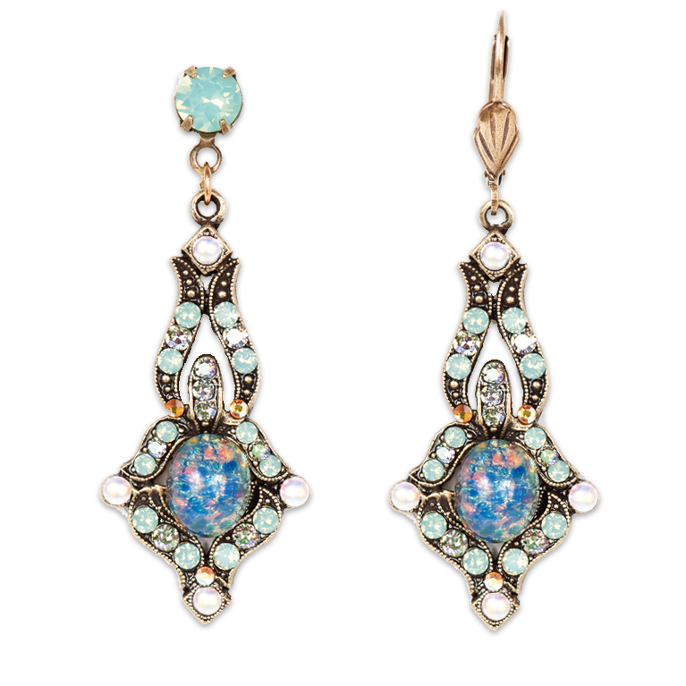 Maia Opalescent Earrings | Anne Koplik Designs Jewelry | Handmade in America with Crystals from Swarovski®