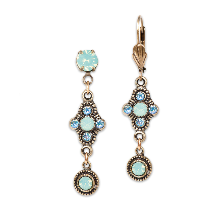 Sadie Opalescent Earrings | Anne Koplik Designs Jewelry | Handmade in America with Crystals from Swarovski®