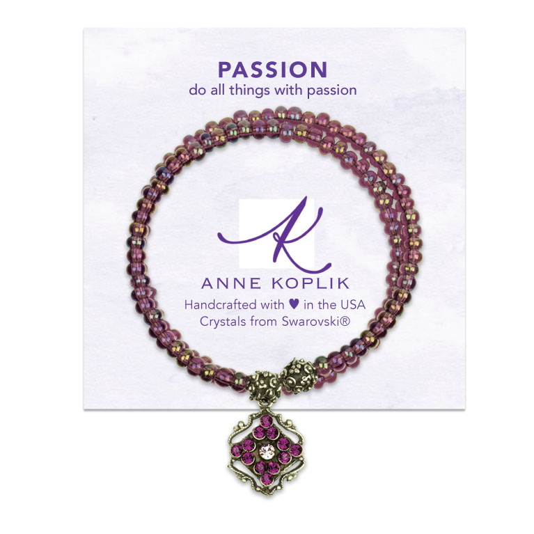 Passion Wrap Bracelet | Anne Koplik Designs | Vintage Inspired Jewelry Handcrafted in America with Crystals from Swarovski®