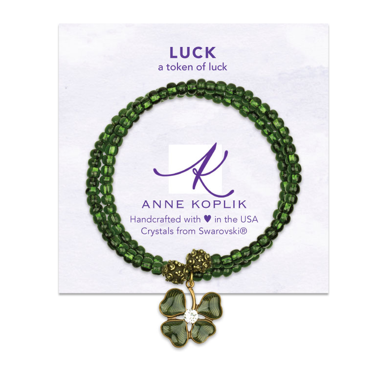 Luck Wrap Bracelet | Anne Koplik Designs | Vintage Inspired Jewelry Handcrafted in America with Crystals from Swarovski®