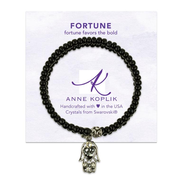 Fortune Wrap Bracelet | Anne Koplik Designs | Vintage Inspired Jewelry Handcrafted in America with Crystals from Swarovski®