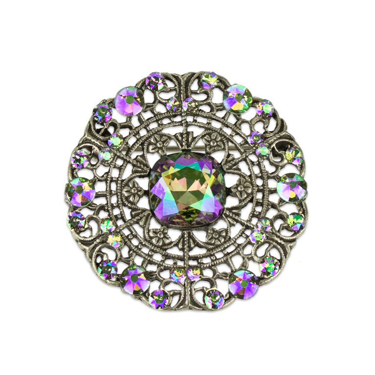Cecilia Vintage Brooch | Anne Koplik Designs Jewelry | Vintage Inspired Jewelry Handcrafted in America with Crystals from Swarovski®