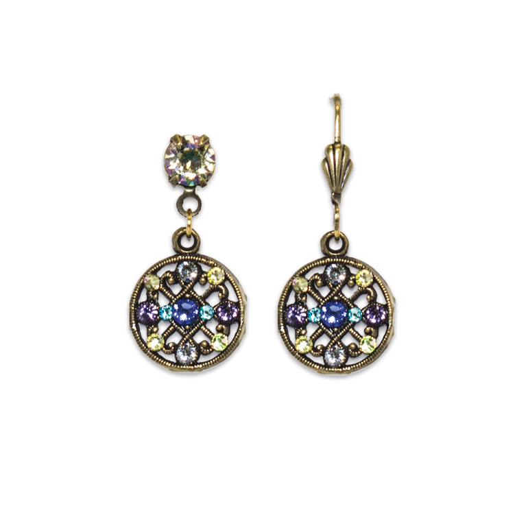 Lorelei Sapphire Night Earrings | Anne Koplik Designs Jewelry | Vintage Inspired Jewelry Handcrafted in America with Crystals from Swarovski®