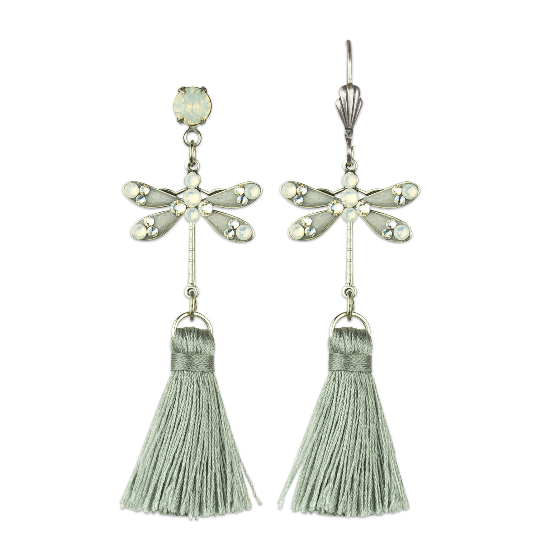 missy empire earrings tassel navy tassle evelyn