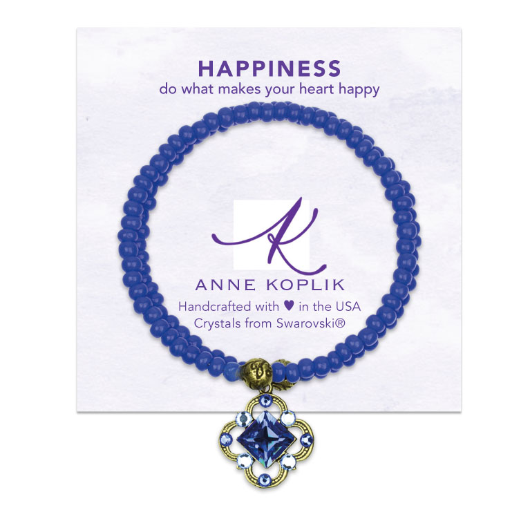 Happiness Wrap Bracelet | Anne Koplik Designs | Vintage Inspired Jewelry Handcrafted in America with Crystals from Swarovski®