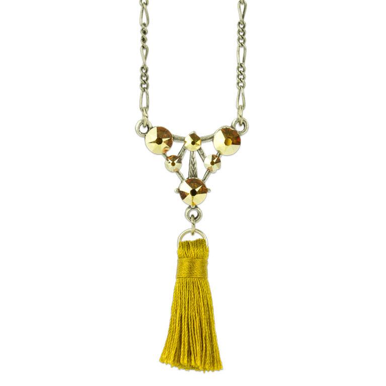 Cassandra Tassel Necklace | Anne Koplik Designs Jewelry | Vintage Inspired Jewelry Handcrafted in America with Crystals from Swarovski®