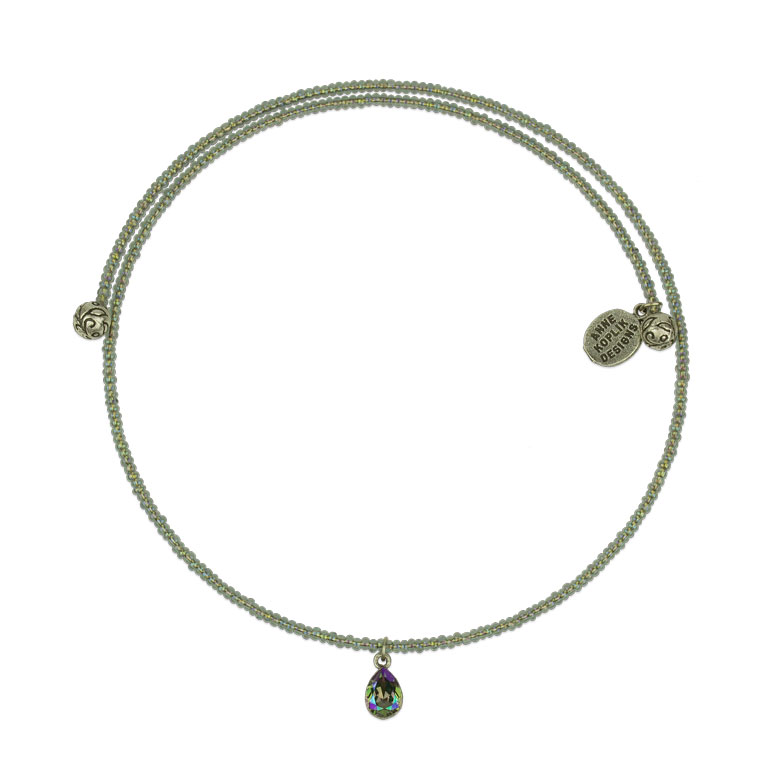 Jordyn Beaded Choker | Anne Koplik Designs Jewelry | Vintage Inspired Jewelry Handcrafted in America with Crystals from Swarovski®