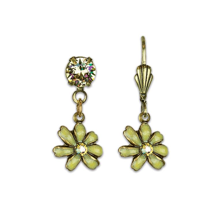 Chasing Yellow Flowers Treasure Earrings | Anne Koplik Designs Jewelry | Vintage Inspired Jewelry Handcrafted in America with Crystals from Swarovski®