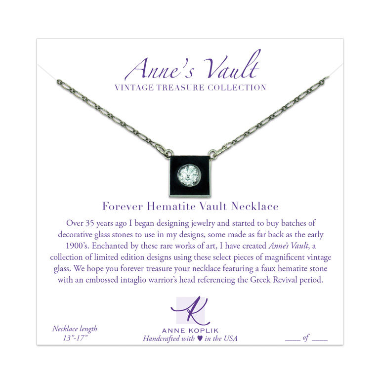 Forever Hematite Vault Necklace | Anne Koplik Designs Jewelry | Vintage Inspired Jewelry Handcrafted in America with Crystals from Swarovski®