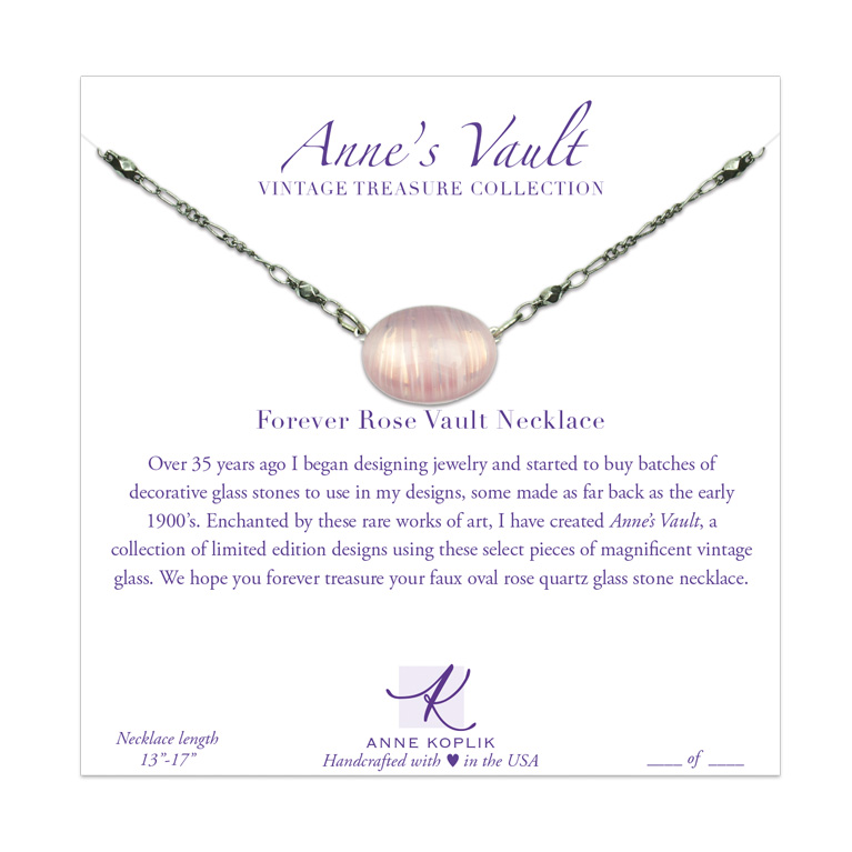 Forever Rose Vault Necklace | Anne Koplik Designs Jewelry | Vintage Inspired Jewelry Handcrafted in America with Crystals from Swarovski®