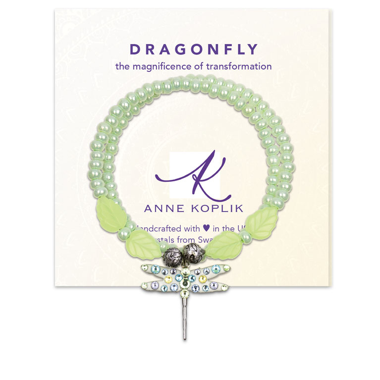 Dragonfly Transform Wrap Bracelet | Anne Koplik Designs Jewelry | Vintage Inspired Jewelry Handcrafted in America with Crystals from Swarovski®
