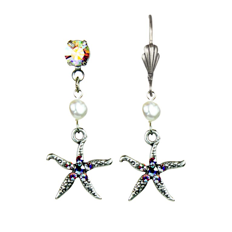 Eden Starfish Earrings | Anne Koplik Designs Jewelry | Vintage Inspired Jewelry Handcrafted in America with Crystals from Swarovski®