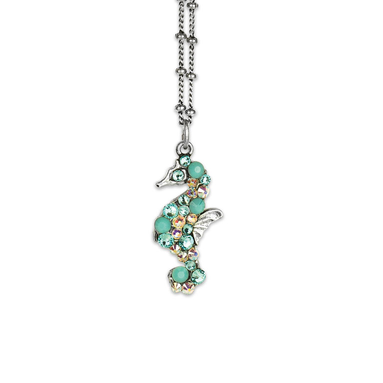 Tallulah Seahorse Necklace | Anne Koplik Designs Jewelry | Vintage Inspired Jewelry Handcrafted in America with Crystals from Swarovski®