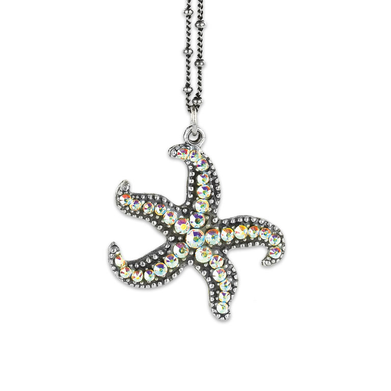 Suma Starfish Necklace | Anne Koplik Designs Jewelry | Vintage Inspired Jewelry Handcrafted in America with Crystals from Swarovski®