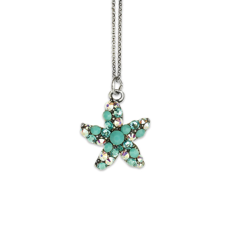 Adena Starfish Necklace | Anne Koplik Designs Jewelry | Vintage Inspired Jewelry Handcrafted in America with Crystals from Swarovski®