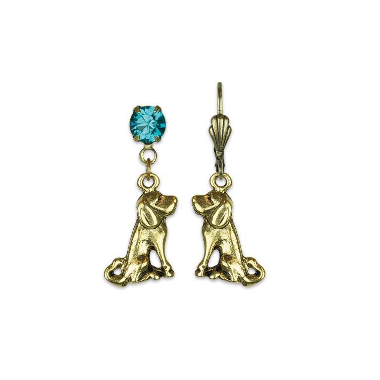 Loving My Dog Treasure Earrings | Anne Koplik Designs | Vintage Inspired Jewelry Handcrafted in America with Crystals from Swarovski®