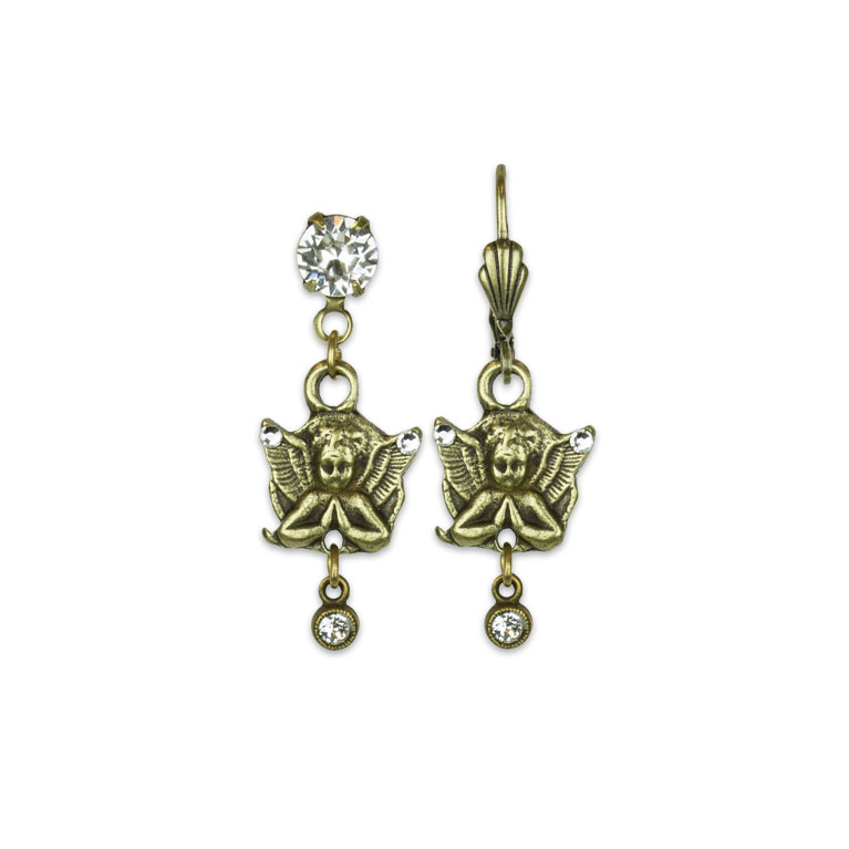 Watch Over Treasure Earrings | Anne Koplik Designs | Vintage Inspired Jewelry Handcrafted in America with Crystals from Swarovski®