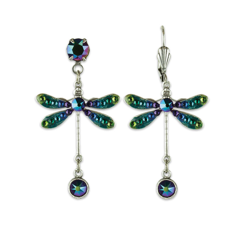 Cadence Dragonfly Earrings | Anne Koplik Designs | Vintage Inspired Jewelry Handcrafted in America with Crystals from Swarovski®