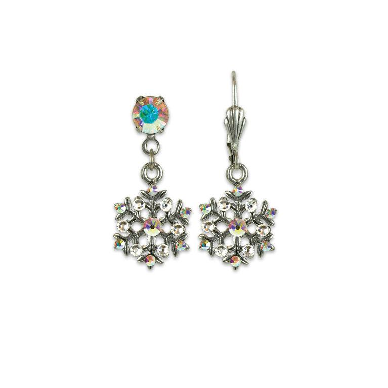 Snow & Ice Treasure Earrings | Anne Koplik Designs | Vintage Inspired Jewelry Handcrafted in America with Crystals from Swarovski®