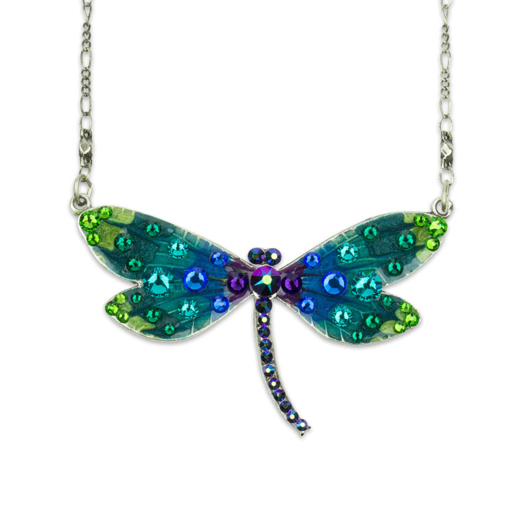 Catrine Dragonfly Necklace | Anne Koplik Designs | Vintage Inspired Jewelry Handcrafted in America with Crystals from Swarovski®