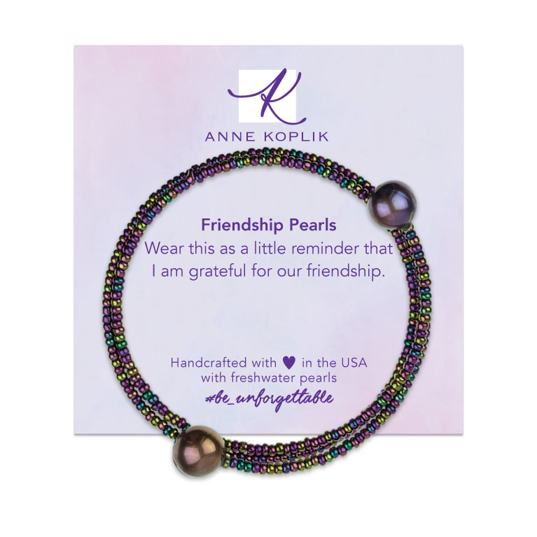 Amethyst Pearl Wrap | Anne Koplik Designs | Vintage Inspired Jewelry Handcrafted in America with Crystals from Swarovski®