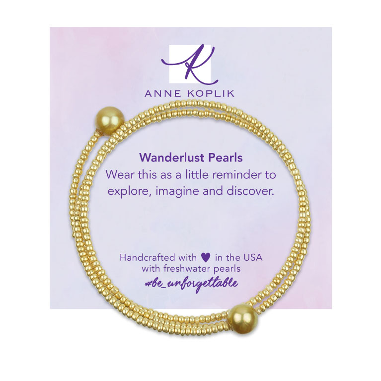 Gold Pearl Wrap | Anne Koplik Designs | Vintage Inspired Jewelry Handcrafted in America with Crystals from Swarovski®
