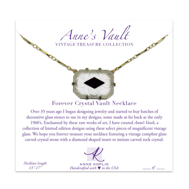 Forever Crystal Vault Necklace | Anne Koplik Designs Jewelry | Vintage Inspired Jewelry Handcrafted in America with Crystals from Swarovski®