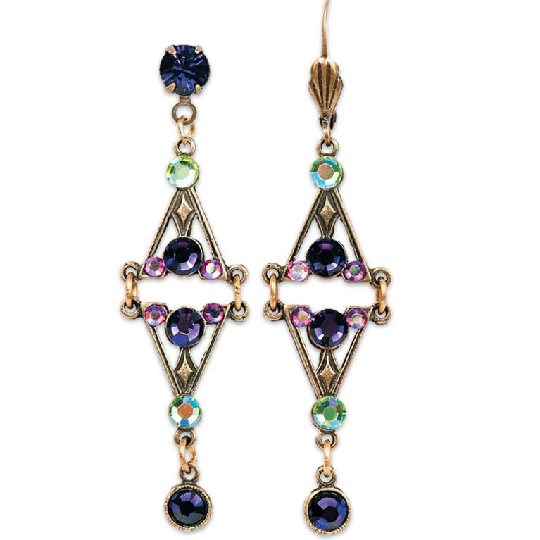 Aurora Borealis Multi Earrings | Anne Koplik Designs | Vintage Inspired Jewelry Handcrafted in America with Crystals from Swarovski®