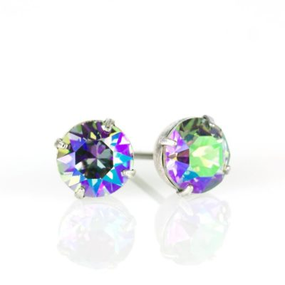 Silver Paradise Shine Swarovski® Crystal Stud Earrings available at Anne Koplik Designs, your source for Silver Swarovski Stud Earrings