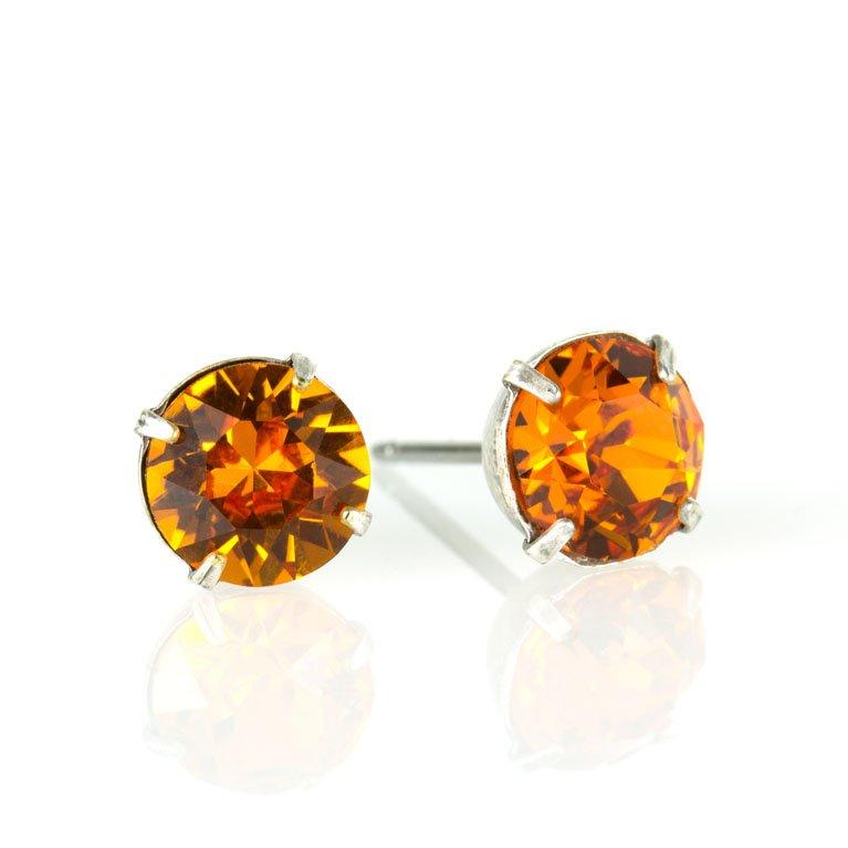 Brown /& Tangerine Earrings