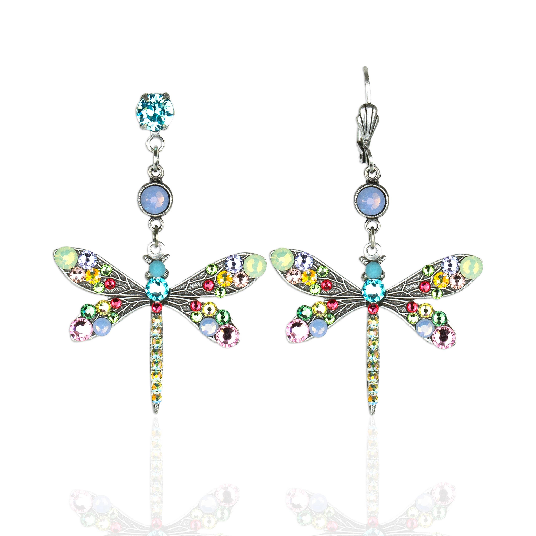 Primavera  Crystal Dragonfly Earrings
