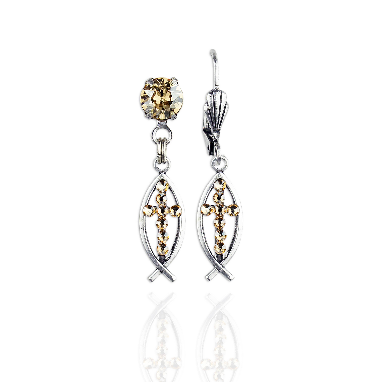 Ichthys  Crystal Earrings