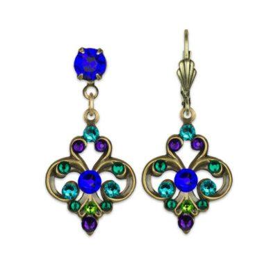 Lapis King Crystal Earrings