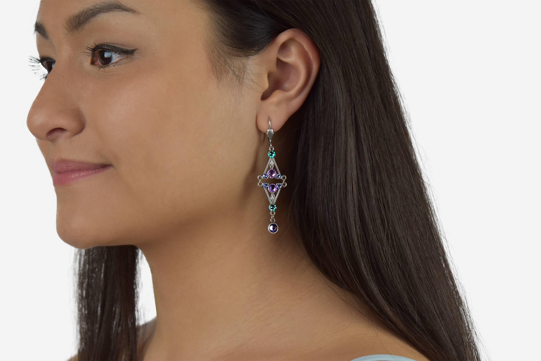 Clara  Crystal Art Deco Earrings