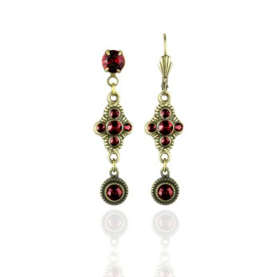 Eulalia Red Siam Go To Earrings