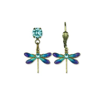 Blue Beauty Dragonfly Earrings