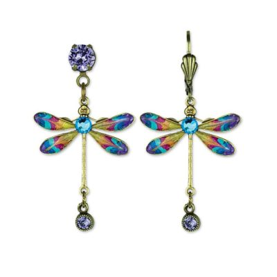 Lila Dragonfly Earrings