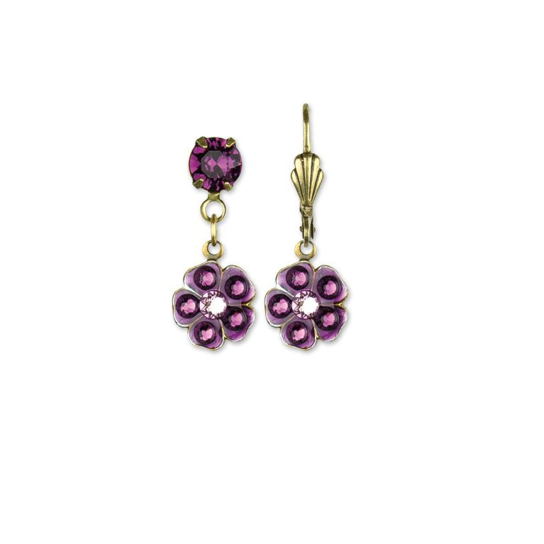 Minka Amethyst Earrings