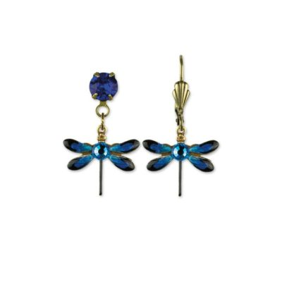Dagny Bermuda Blue Dragonfly Earrings