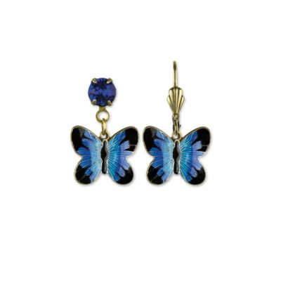 Briny Bermuda Blue Wish Granters Butterfly Earrings