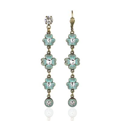 Dakota Aquamarine Crystal Earrings