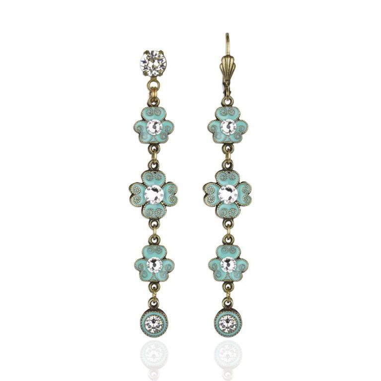 Dakota Aquamarine Crystal Earrings