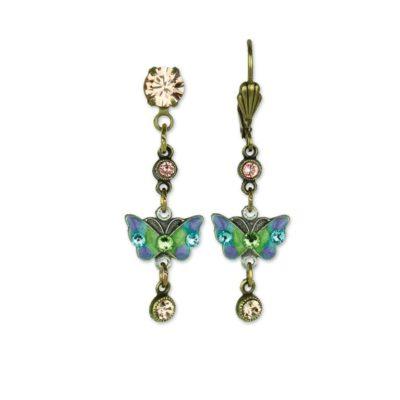 Butterfly Fly Away Charm Earrings