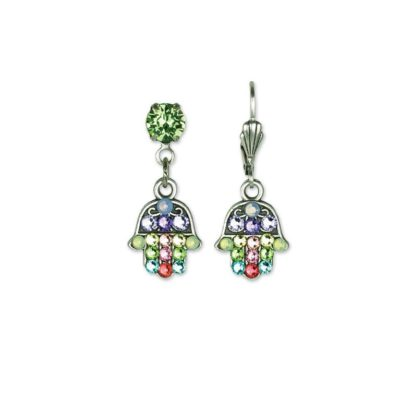 She's a Dreamer Hamsa Charm Earrings